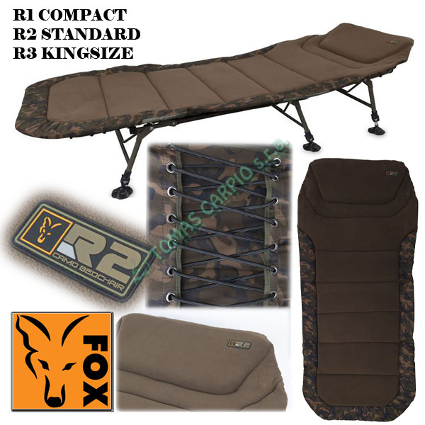 c32e53c4559 Postel Fox Camo R2 Standard bedchair lehátko šestinohé