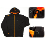 Fox Black Orange Heavy Lined Hoody XXL teplá bunda se zipem