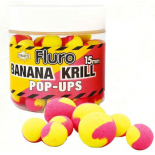 Dynamite Baits boilies Pop-Ups Fluro Two Tone Banana Krill 15mm plovoucí